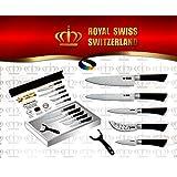 Set de 5 Couteaux INOX de couleur Royalty Line - RL-COL5 + 1 économe en cadeau