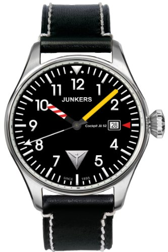 Mens Watches JUNKERS Cockpit JU52 6144-3 (Ju 52 Junkers)