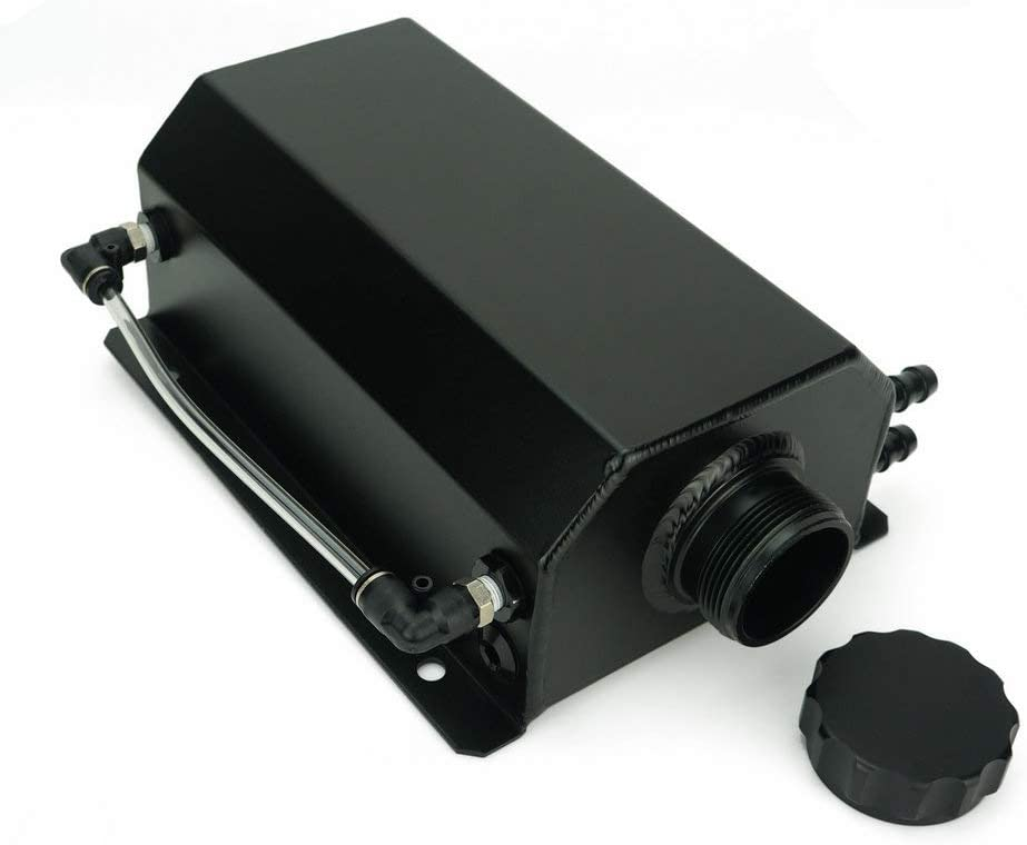 black QIDIAN Coolant Radiator Overflow Recovery Water Tank General 2L Oil Tank Polished Aluminum