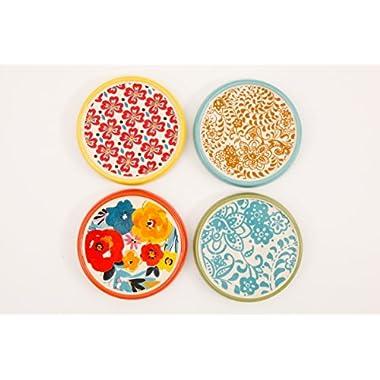 The Pioneer Woman - Flea Market - 4 Piece Stoneware Coaster Set