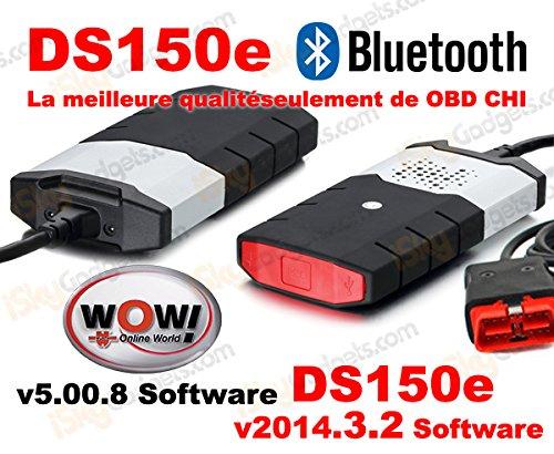 DS150/DS150e herramienta de diagnó stico Bluetooth (calidad A +) para coches/camiones, con Software 2014.3.2 para coche y camió n + Software Wow 5.00.8 (idioma españ ol no garantizado) Aftermarket
