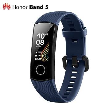 Guangmaoxin para Huawei Honor Band 5 Bluetooth Smartwatch, AMOLED Pantalla a Color Impermeable 5ATM, con Monitor De Frecuencia CardíAca y Monitoreo de ...