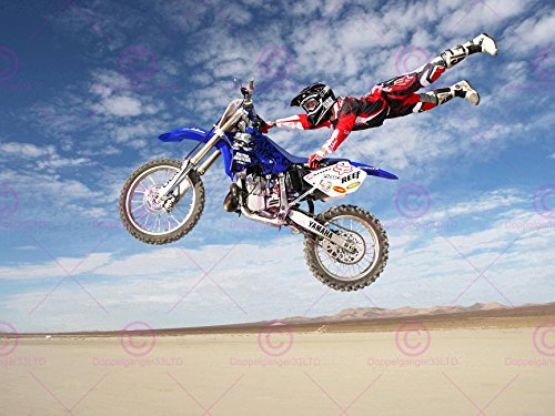 SPORT MOTORBIKE STUNT DESERT DIRT BIKE MOTOCROSS 18X24'' ...