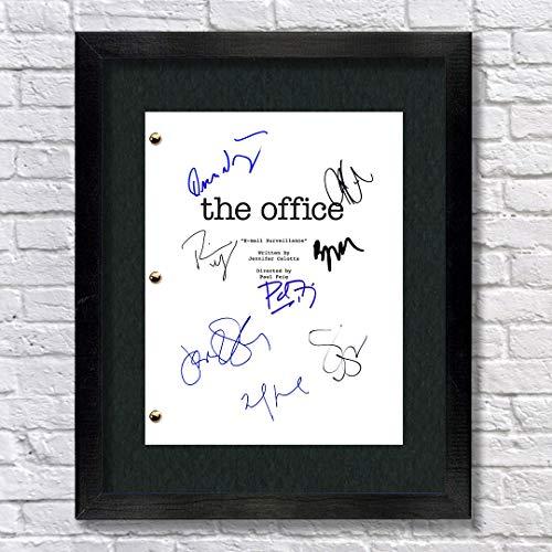 The Office TV Show Cast Autographed Signed Reprint 8.5x11 Script UNFRAMED - Steve Carrell John Krasinski Jenna Fischer Rainn Wilson
