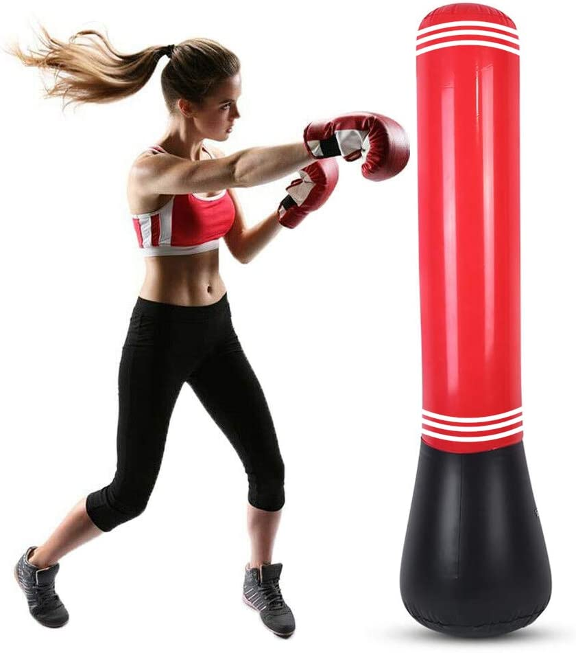 Inflatable Punching Bag Tumbler Sandbag Fitness Strength Boxing-Workout K1H0