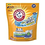 Arm & Hammer Plus Oxiclean 3-in-1 Laundry Detergent Paks, 24 Count