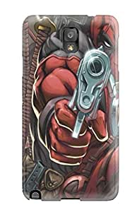 Rugged Skin Case Cover For Galaxy Note 3- Eco-friendly Packaging(deadpool)