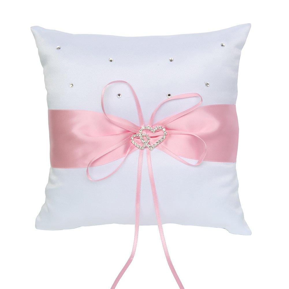 Amazon.com: ARKSU Ring Bearer Pillow Cushion 7.8 x7.8 inch with ...