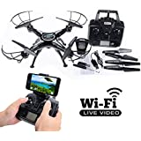 Drone with HD Camera Live Video Drones X5C-1 for Kids & Adults. RC Quadcopter 2.0MP Conect Drone to Phone by WiFi & Watch Real-time Transmission Drone Video and Picture 100m Long Range Transmission