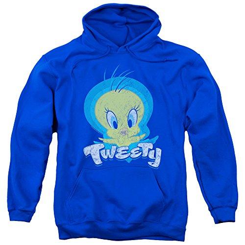 (Looney Tunes Tweety Swirl Mens Pullover Hoodie (Royal Blue, Medium))