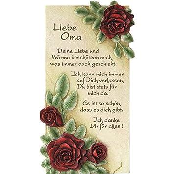 Platte Mit Spruch Liebe Oma Geschenk Von Herzen Spruchplatte