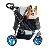 Dog Stroller – Monarch Premium Pet Jogger in a Choice of Luxury Colors – Carry your Dog in Style (F1 Moto)