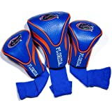 Team Golf NCAA Florida Gators Contour Golf Club Headcovers (3 Count), Numbered 1, 3, & X, Fits Oversized Drivers, Utility, Rescue & Fairway Clubs, Velour lined for Extra Club Protection