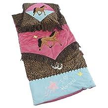 Cowgirl Horse Leopard Fringe Western Kids Slumber Sleeping Bag