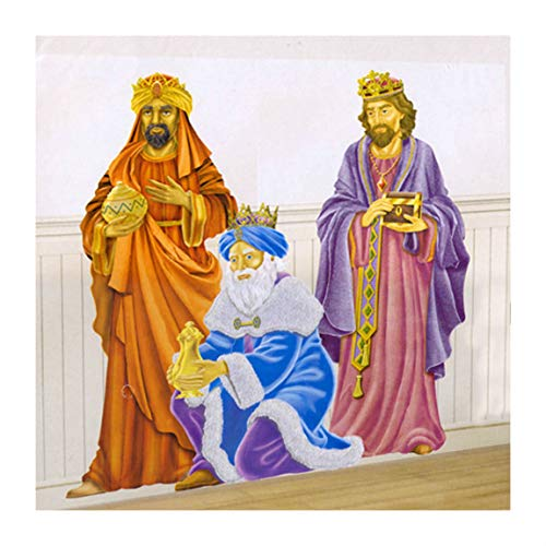 Awesome Shopper The Three Wise Men Nativity Religious Christmas Scene Setter Party Decoration Add-on Prop -