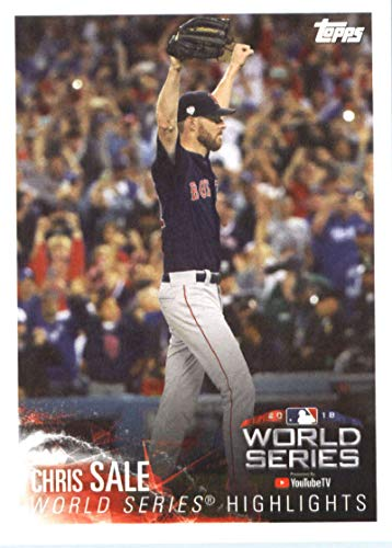 2019 Topps MLB Stickers Baseball #4 Chris Sale/Eloy Jimenez Boston Red Sox/Chicago White Sox Trading Card Sized Album Sticker with Collectible Card Back