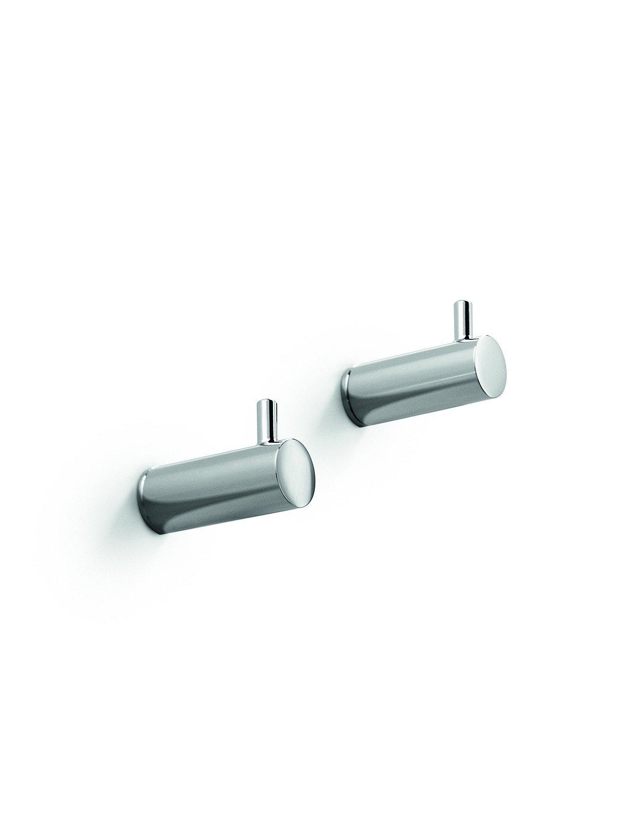 LB Picola Brass Double Towel Robe Hook Towel Hanger set of 2 for Bath, Chrome