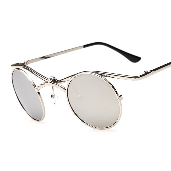 ZWX Gafas de sol protección UV/Gafas de sol circulares ...