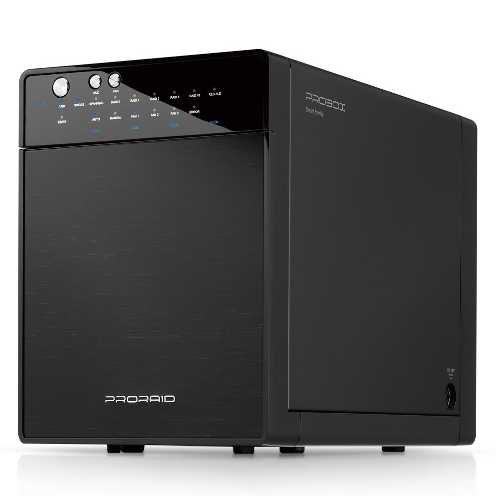 Mediasonic PRORAID 4 bay 3.5'' SATA Hard Drive Enclosure - USB 3.0 & eSATA 10TB Support (HFR7-SU3S2) by Mediasonic
