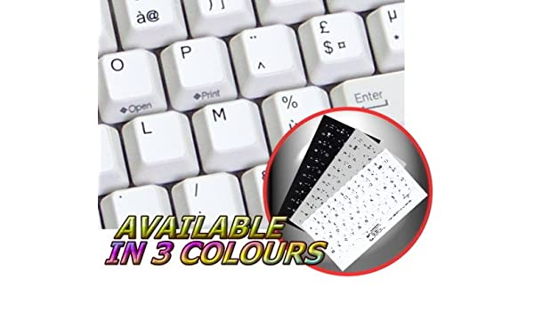 French Non Transparent Keyboard Stickers Grey Background for Any Pc Computer Laptop Desktop Keyboards Azerty