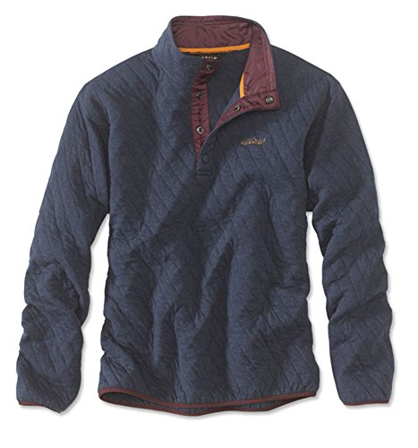 Orvis Men's Trout Bum Quilted Snap Sweatshirt/Trout Bum Quilted Snap Sweatshirt, Dark Navy, X Large ()
