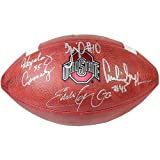 Ohio State Heisman Trophy Winners (Hopalong Cassady, Archie Griffin, Eddie George, Troy Smith) Autographed NCAA Football - Certified Authentic
