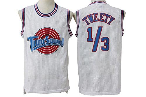 Mens Tune Squad Tweety Shirts Tweety White Mesh Space Jam Movie Jersey Size XXL