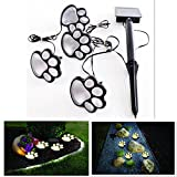 DSstyles LED Funny Bear Paw Shape Solar Energy Power Light Lawn Lamp Home Yard Garden Decoration Unique