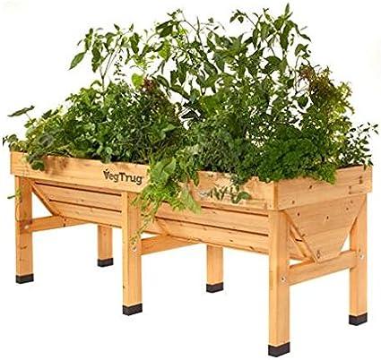 Mesa de cultivo de madera Vegtrug grande: Amazon.es: Jardín