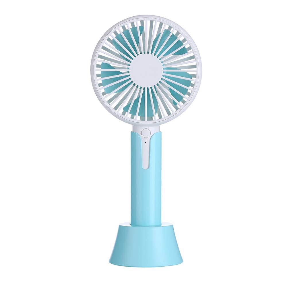 exactddjek Creative Mini Ventilateur Macaron-Gray Jane Love Fan Outdoor Portable USB Desktop Mini