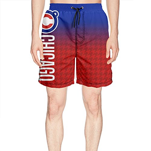 American Professional Baseball Team red Mens Beach Shorts Quick Dry Surfing Pockets Casual Summer