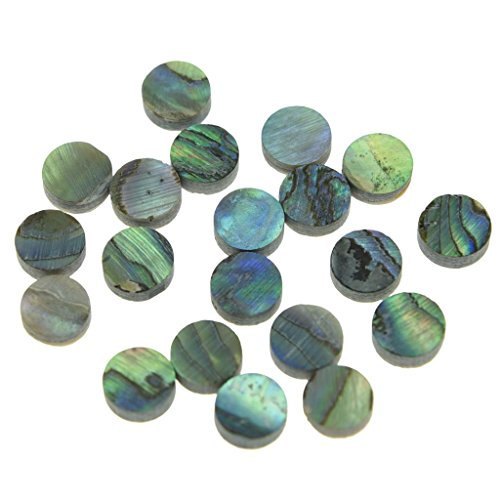KAISH 20pcs 6x2mm Natural Paua Abalone Shell Guitar Inlay Fingerboard Dots