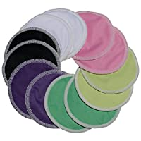 100% Organic Bamboo Nursing Pads by Wilde Tyke (8 Day Pads + 4 Thick Overnigh...