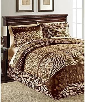 Amazon.com: Leopard, Zebra Print, Jungle, Safari Twin ...