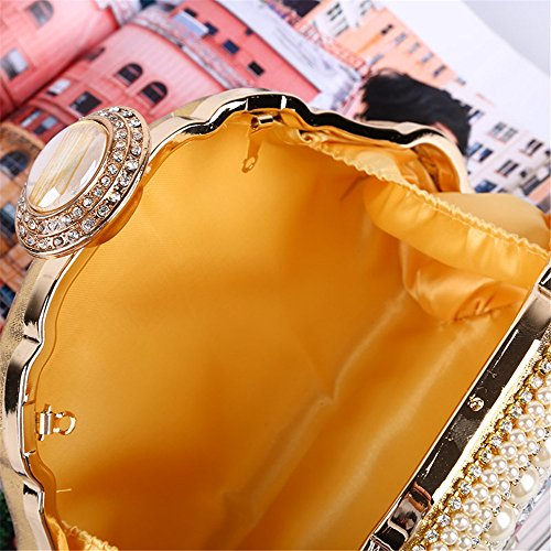 Miss De Luxe Main des soirée Sac Sac pour discothèques Gold Soirée embrayages de Femmes de Mariage Main Mariage Mariage à Strass à Joy de Er5w4xaqE