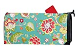 EAKLLCI Mailbox Covers Magnetic Patriotic Summer Home Greenhouse Upholstery Fabric Summer Fall Magnetic Mailbox Cover 8'' x 21'' inches