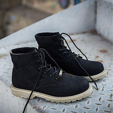 Invierno Botas Plano Up Zapatos Cowboy EU38 CN38 Lace Confort Para Casual Mujer UK5 Toe Talón 5 Ronda US7 Botas Pu De Otoño Western RTRY Botines Botines 5 wIq7zz
