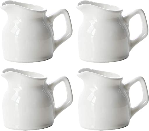 meilleure vente énorme réduction prix bas Lot de 4 mini pichet à lait 100 ml en céramique avec poignée ...