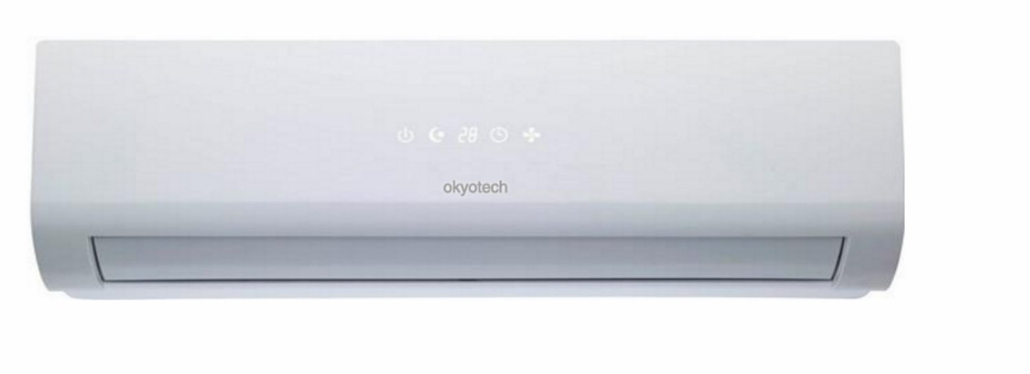 Okyotech 24000 Btu 2 Ton 14 Seer Ductless Mini Split Ymgi Wiring Diagram Air Conditioner Cool Heat With Pump Full Installation Set Home Kitchen