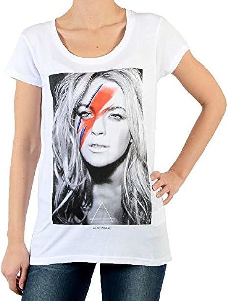 Camisa Eleven Paris Linda W Lindsay Lohan Blanco: Amazon.es: Ropa y accesorios