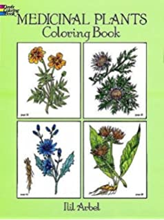 Medicinal Plants Coloring Book Dover Nature