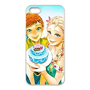 Generic for iPhone 4 4s Cell Phone Case White Frozen Disney Cartoon Elsa and Anna Custom HLFFKDOFS4817