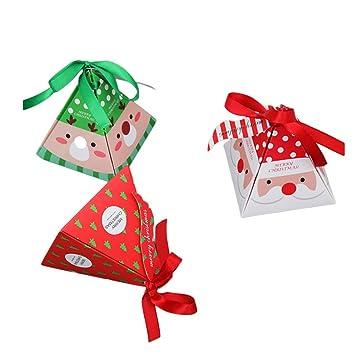 YeahiBaby 15PCS Cajas de Papel navideñas de golosinas Dulces de Caramelo de Chocolate Cajas Suministros para