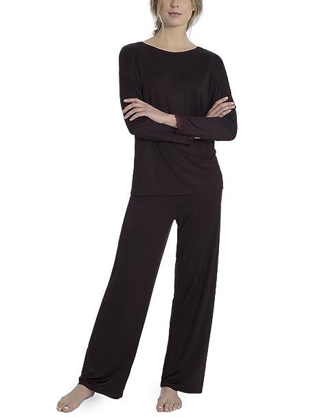 Calida Raissa, Conjuntos de Pijama para Mujer, Negro (Black Cherry 227),