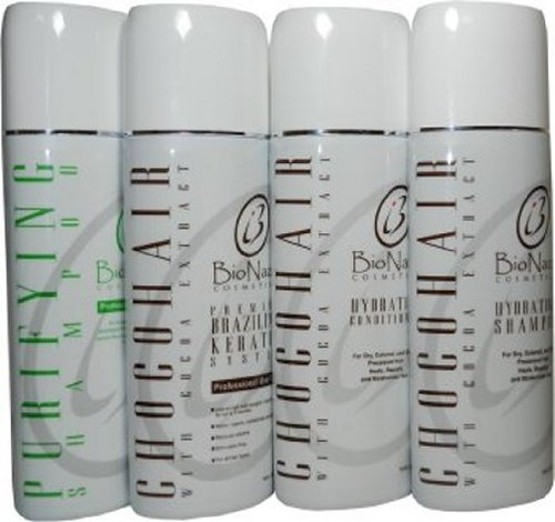 Choco Hair Brazillian Keratin System All in One Set 16oz by BioNaza Cosmetics