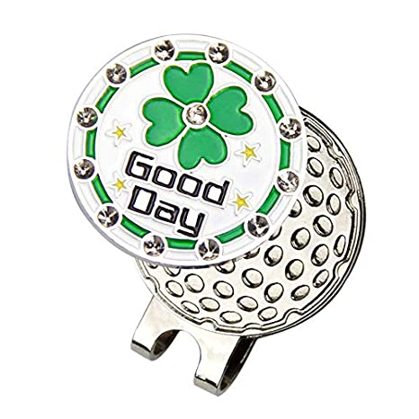 Image Unavailable. Image not available for. Color  KAVENO Magnetic Golf Hat  Clip with Golf Ball Marker (Lucky Clover) 4f6a5a3879a6