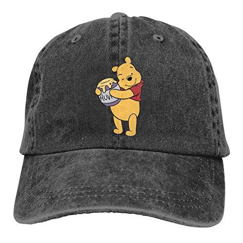 Stylish Honey-clipart-winnie-the-pooh-641662-3005294 Print Neutral Cotton Denim Adjustable Hat for Men and Women Black