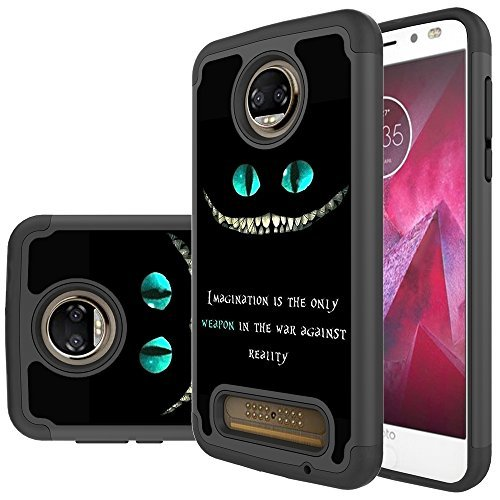 Moto Z2 Force Edition Case,Moto Z2 Force Case,Yiakeng Dual Layer Armor Hard Slim Hybrid Phone Cover Case for Motorola Moto Z2 Force Droid/Moto Z Force (2nd Generation) (magination Weapon)