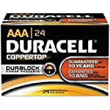 Duracell CopperTop Alkaline Batteries with Duralock Power Preserve Technology, AAA, 24/Bx