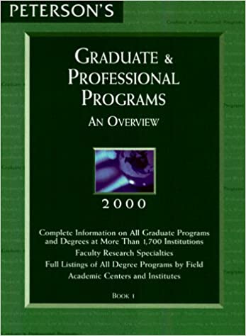 Read online Peterson's Graduate & Professional Programs: An Overview 2000 (Peterson's Graduate and Professional Programs : An Overview, 2000) PDF